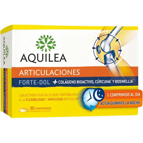 AQUILEA Articulaciones Forte-Dol con Colágeno Bioactivo, Cúrcuma y Boswellia caja 30 comprimidos contribuye ala flexibilidad y movilidad articular