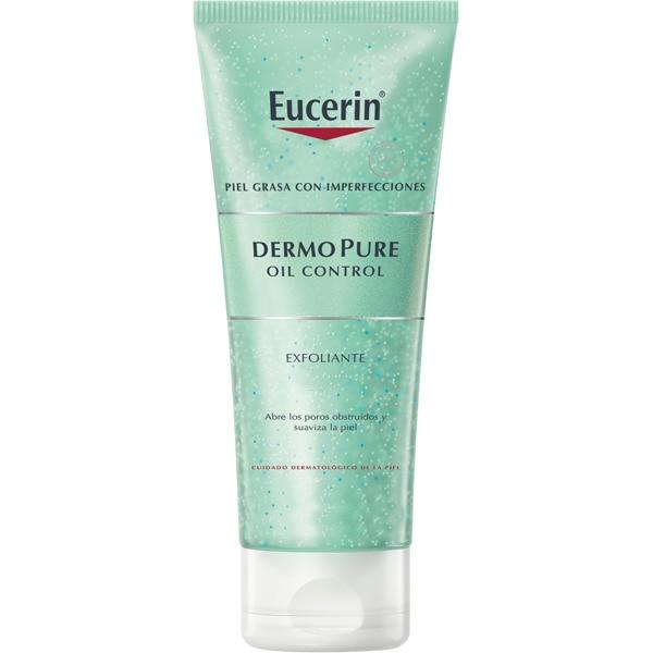 EUCERIN Dermopure Oil Control Exfoliante peeling para la piel sin aceites y con ácido Láctico tubo 100 ml para la piel grasa de la cara y el cuerpo