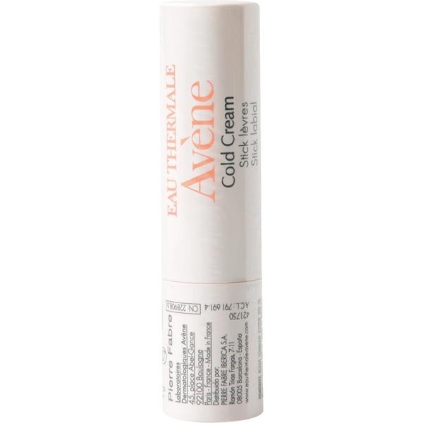EAU THERMALE AVENE Cold Cream stick labial Avène cold cream stick labial está específicamente preparado para nutrir, reestructurar y proteger la piel de los labios.