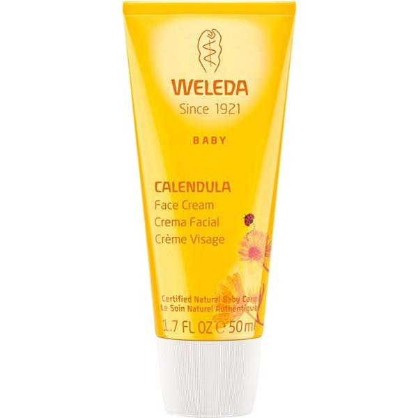 WELEDA Baby crema facial de Caléndula tubo 50 ml que protege e hidrata cara, manos y cuerpo del bebé