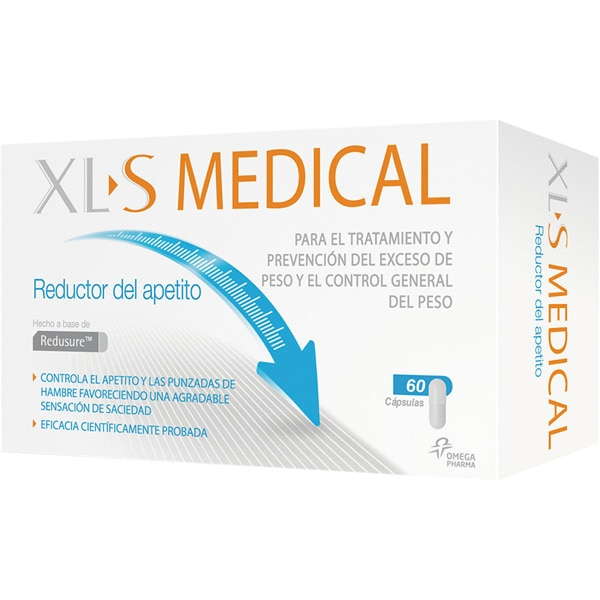 XLS MEDICAL Reductor del apetito caja 60 cápsulas para el tratamiento y prevención del exceso de peso