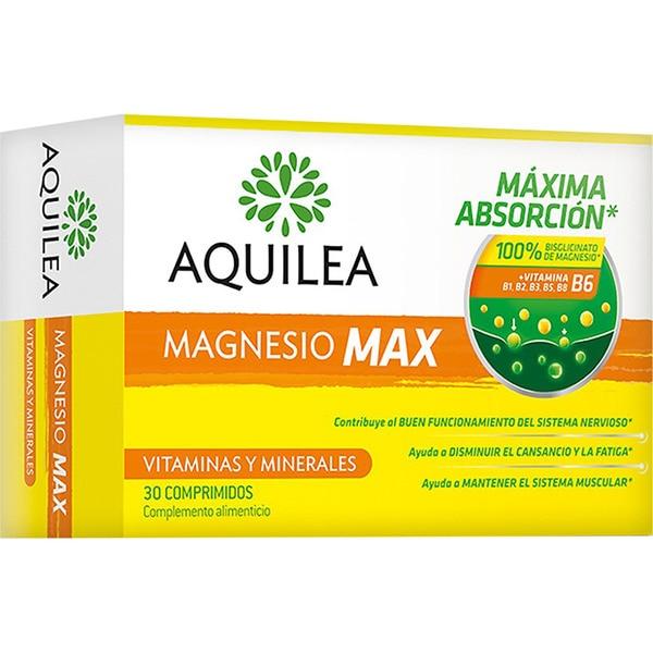AQUILEA Magnesio Max contribuye al buen funcionamiento del sistema nervioso caja 30 comprimidos