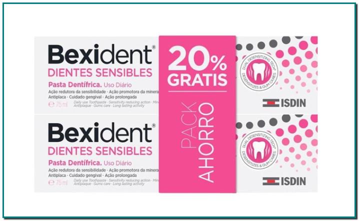 BEXIDENT Dientes Sensibles pasta dentífrica para la hipersensibilidad bucodental pack 2 tubos 75 ml