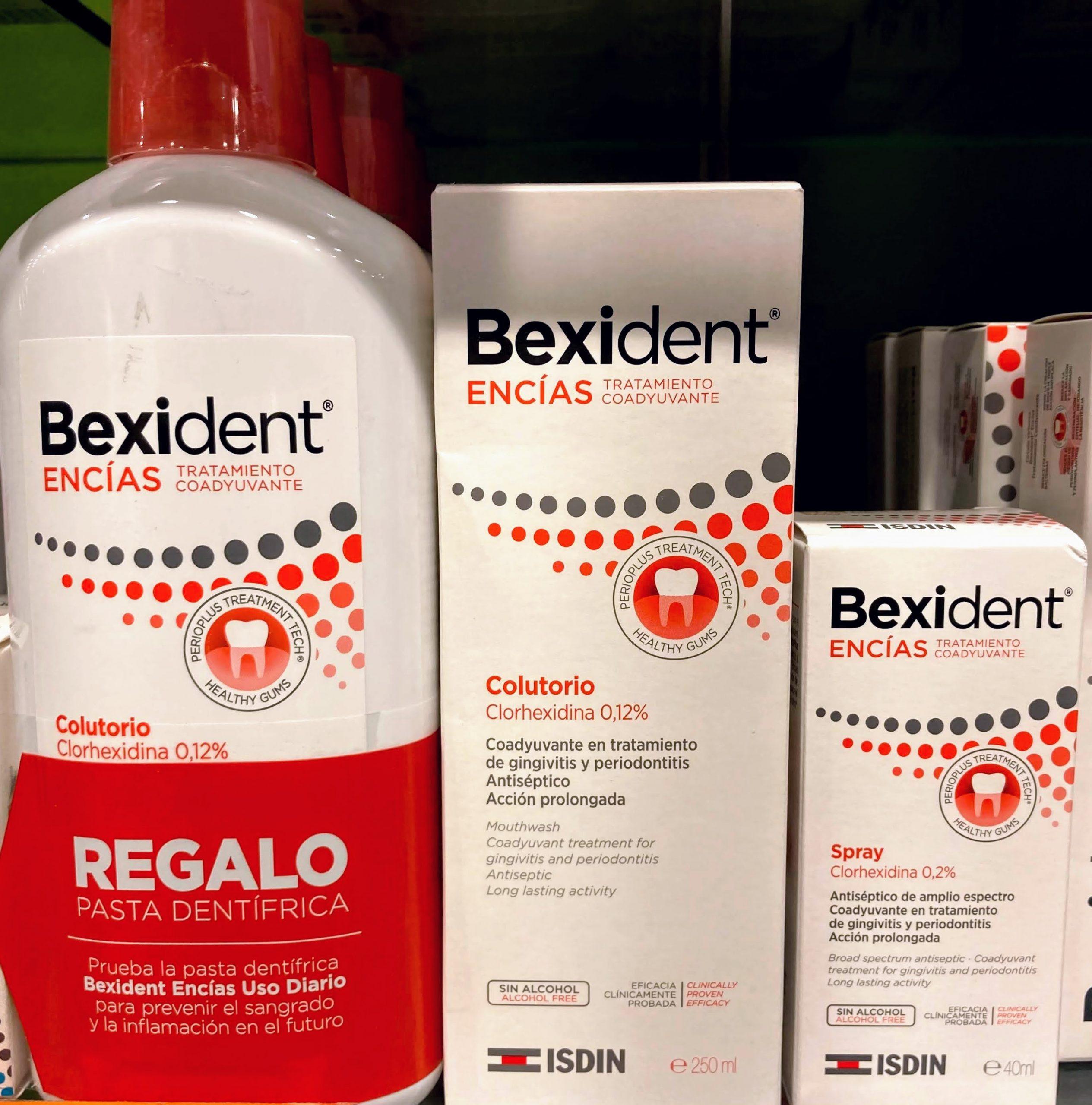 Bexident Encías Tratamiento Colutorio Potente eficacia antiséptica, disminuye la inflamación y con acción calmante Prevención y coadyuvante en el tratamiento periodontal, preimplantario y en cirugía periodontal y maxilofacial.