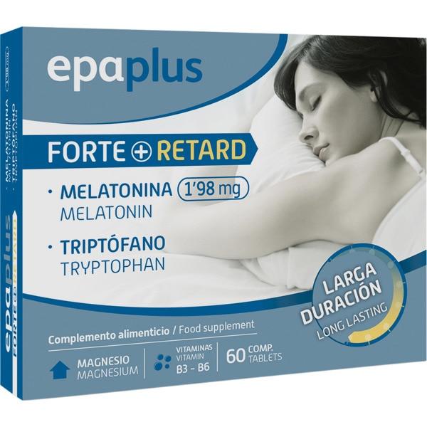 EPAPLUS Melatonina Retard 1,98 Mg + Triptófano + Vitamina B6 + Vitamina B3 + Magnesio caja 60 comprimidos