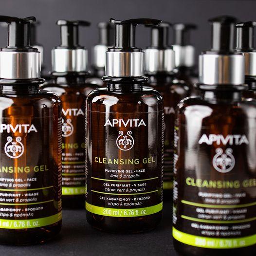 Apivita Cleansing Gel Limpiador Piel Grasa y Mixta Con Propóleo y Cítricos 200ml PROPIEDADES Apivita Cleansing Gel Limpiador 96% ingredientes naturales