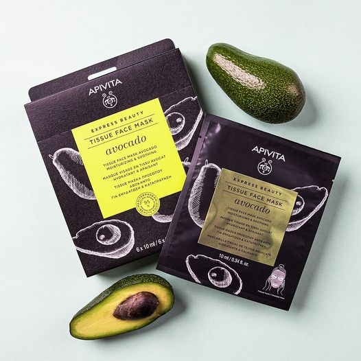 APIVITA Express Beauty Tissue Face Mask Mastic es una mascarilla hidratante y reafirmante apta para todo tipo de pieles e ideal para pieles maduras. Su fórmula única, con un 97% de ingredientes de origen natural, tiene propiedades antioxidantes y también hidratantes.