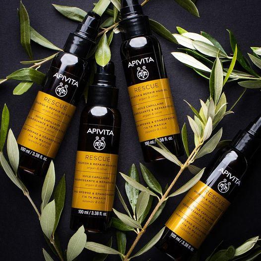 Apivita Rescue Hair Oil Aceite Capilar Nutritivo 100ml Tratamiento capilar nutritivo e hidratante que repara el cabello devolviéndole su vitalidad y su brillo