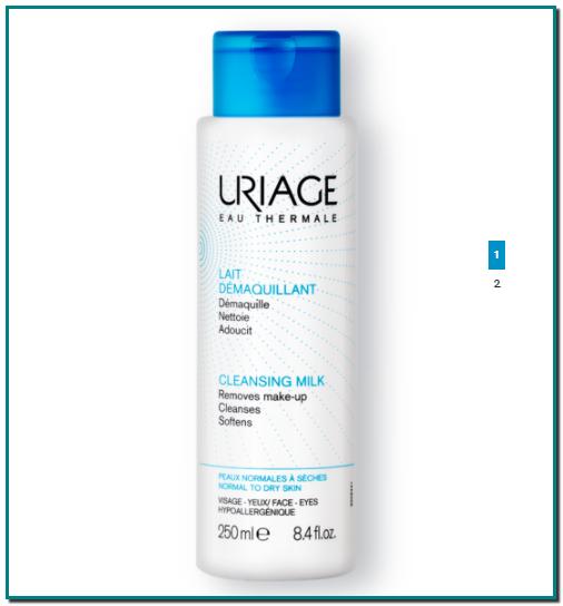 LECHE DESMAQUILLANTE LECHE LIMPIADORA SUAVE(Cuidados para pieles sensibles) El Agua Termal de Uriage hidrata la piel y la deja más suave