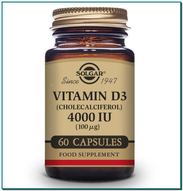 SOLGAR Vitamina D3 INMUNIDAD Vitamina D3 (Colecalciferol) Mantiene los huesos y los dientes sanos Ayuda a la función muscular Refuerza el sistema inmunitarioVitamina D3 INMUNIDAD Vitamina D3 (Colecalciferol) Mantiene los huesos y los dientes sanos Ayuda a la función muscular Refuerza el sistema inmunitario