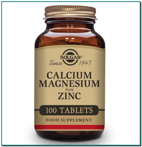 Solgar® Calcio y Magnesio con Zinc, creada por nuestros expertos para favorecer la salud de los huesos y los músculos es esencial para los adultos de todas las edades