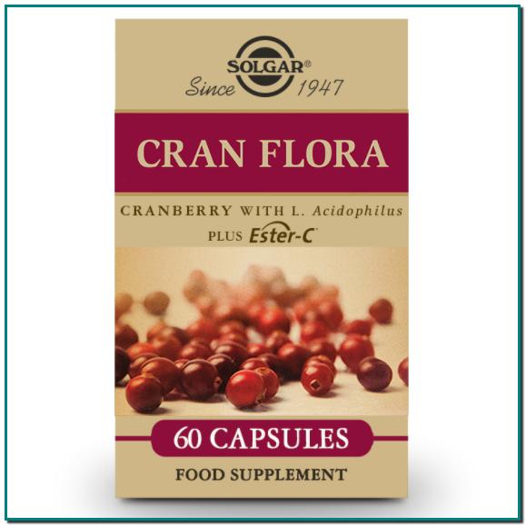 Solgar® Cran Flora es una fórmula especializada ayuda a proteger las células del daño oxidativo y a mantener el funcionamiento del sistema inmunitario