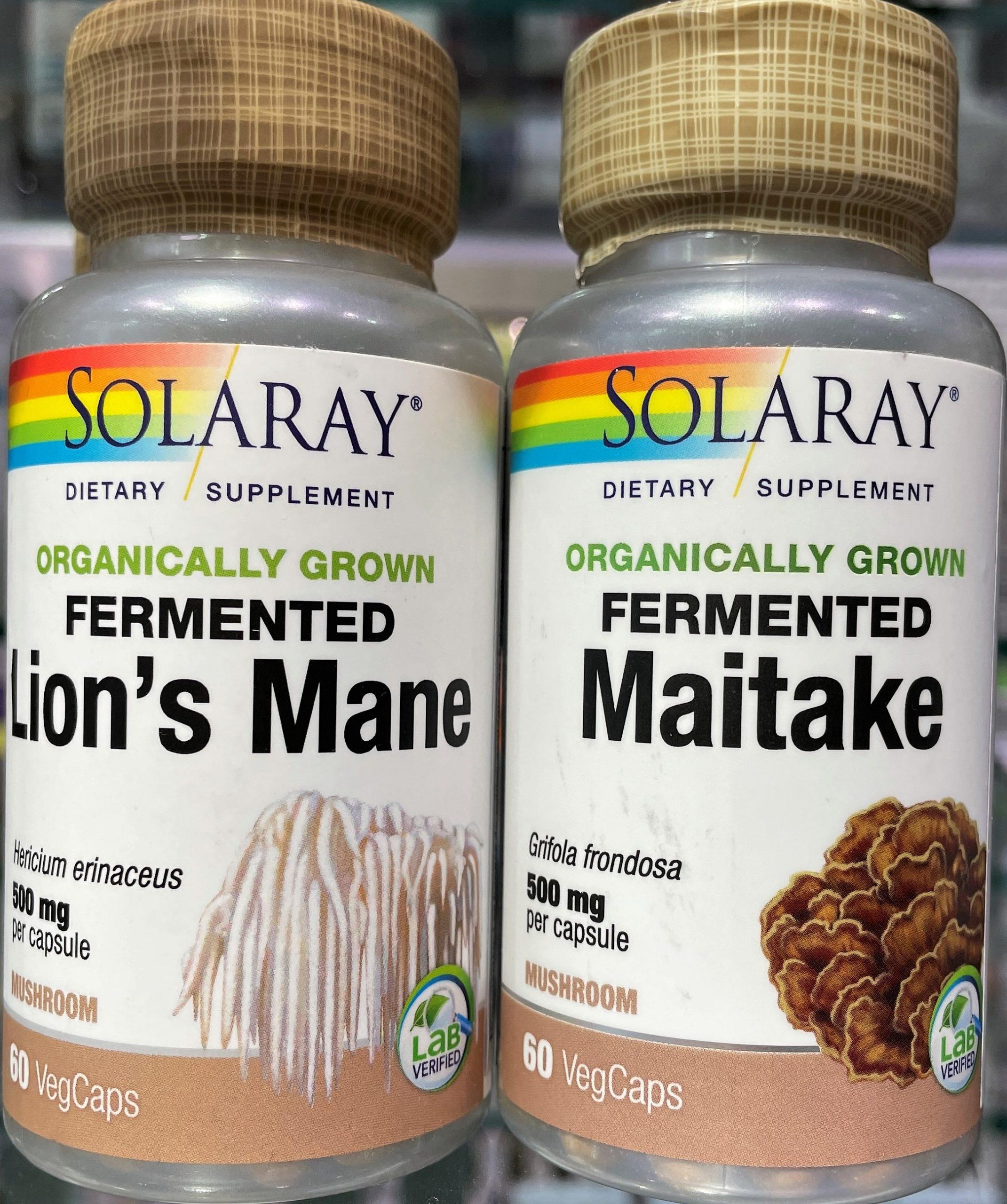 Fermented Maitake de Solaray reconocidos en muchos estudios por sus beneficios sobre el sistema inmunitario