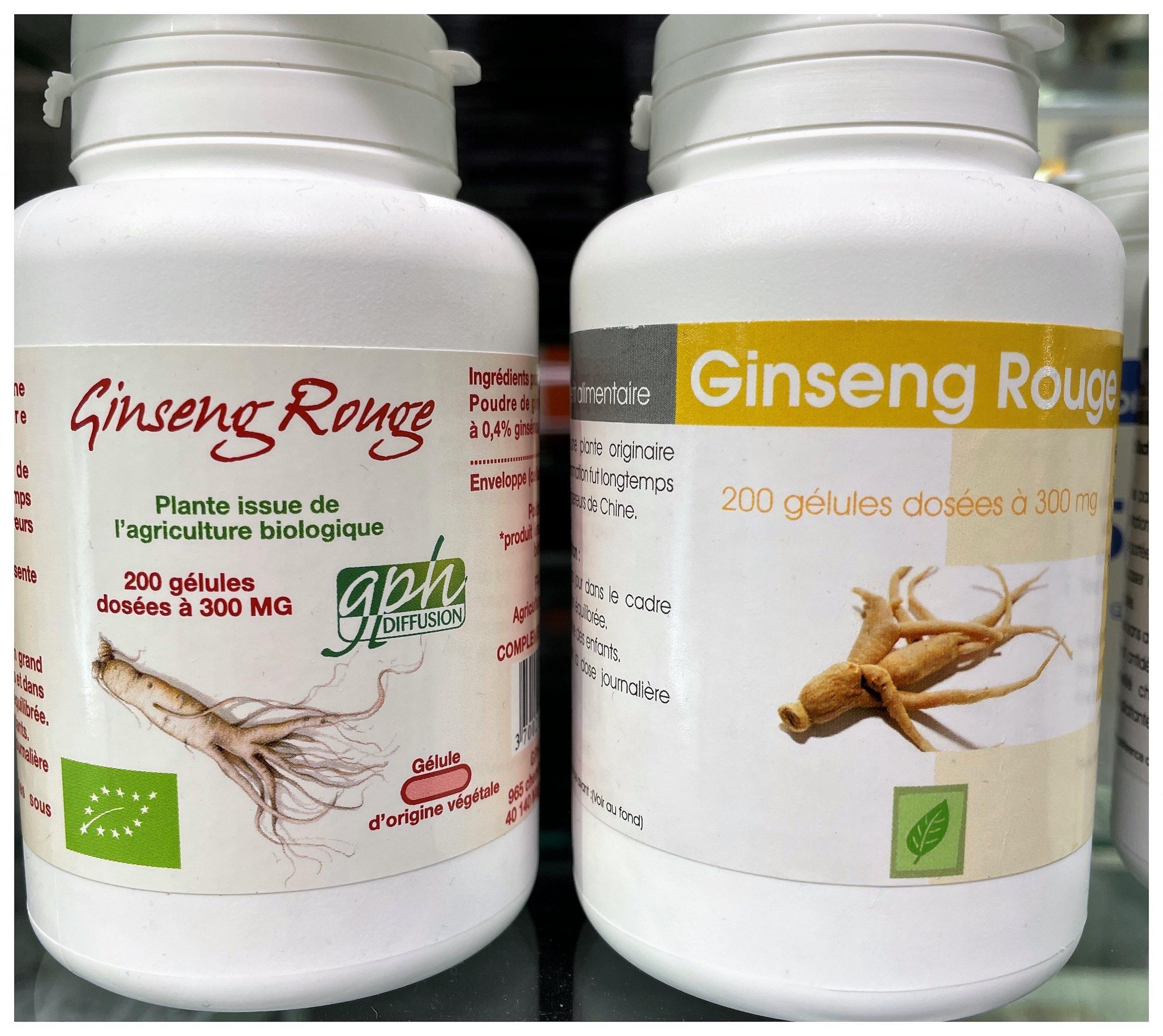 Ginseng Bio 400mg 200 comprimés GPH Diffusion contient 400mg de Panax ginseng bio par comprimé.