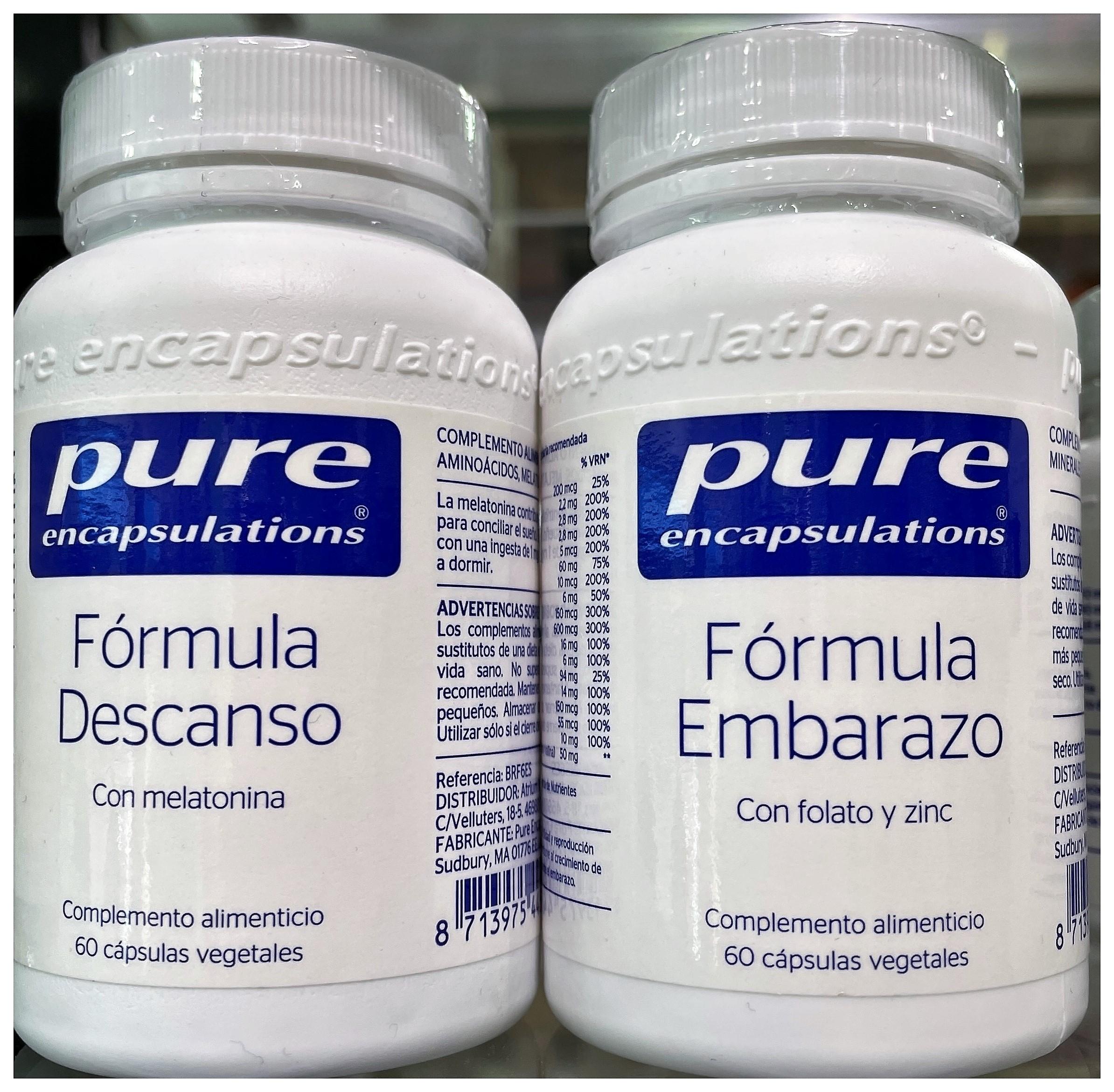 Pure Encapsulations Fórmula Descanso 60 Cápsulas Vegetales Con Melatonina