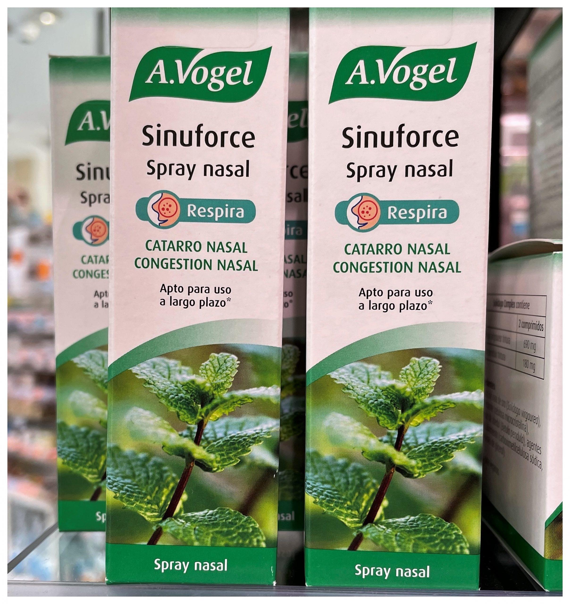Sinuforce de A.Vogel fórmula efectiva para la congestión nasal