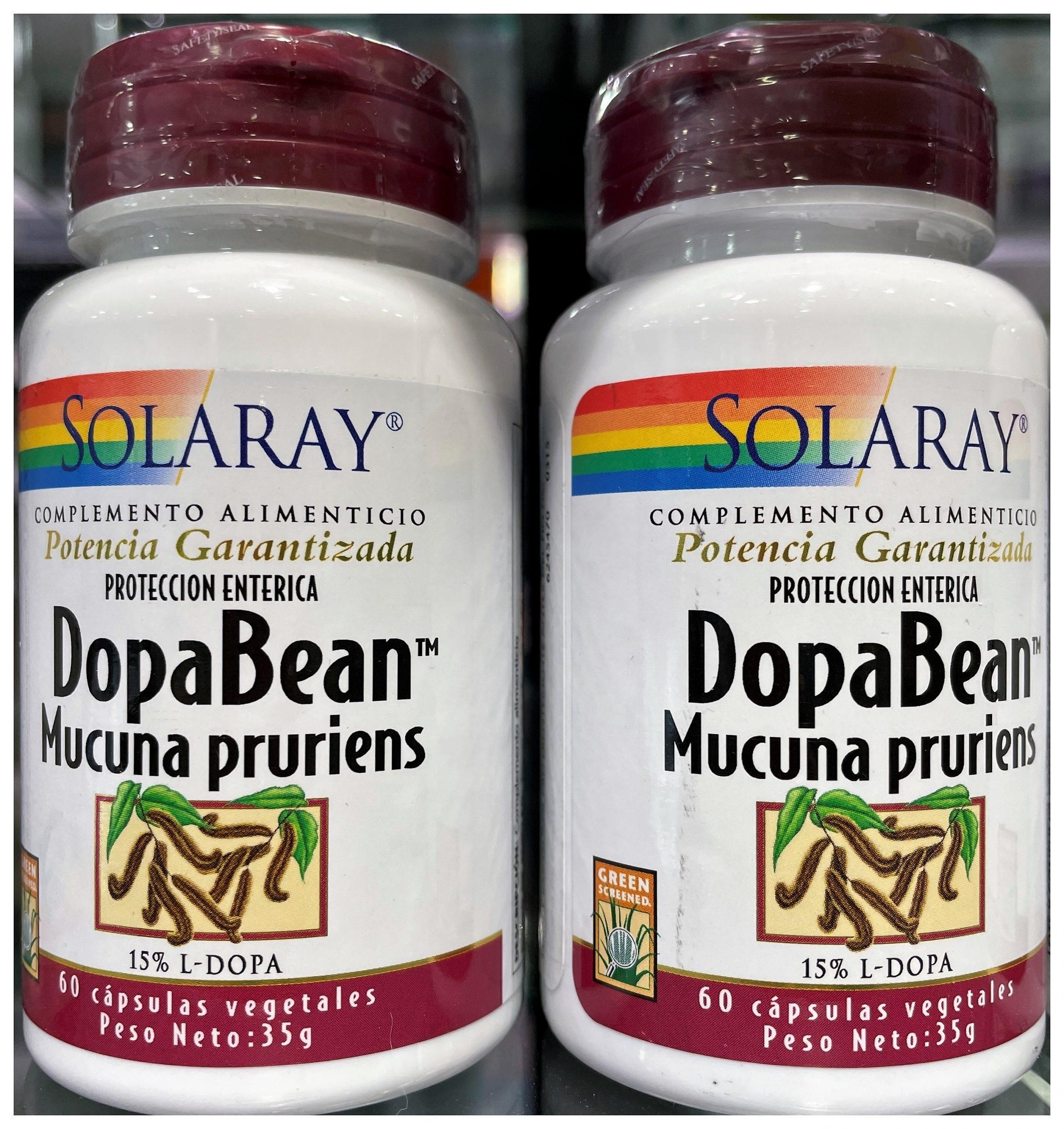 Comprar SolarayDopabean Mucuna Pruriens es un complemento a base de Mucuna pruriens, conocida también como Frijol de terciopelo
