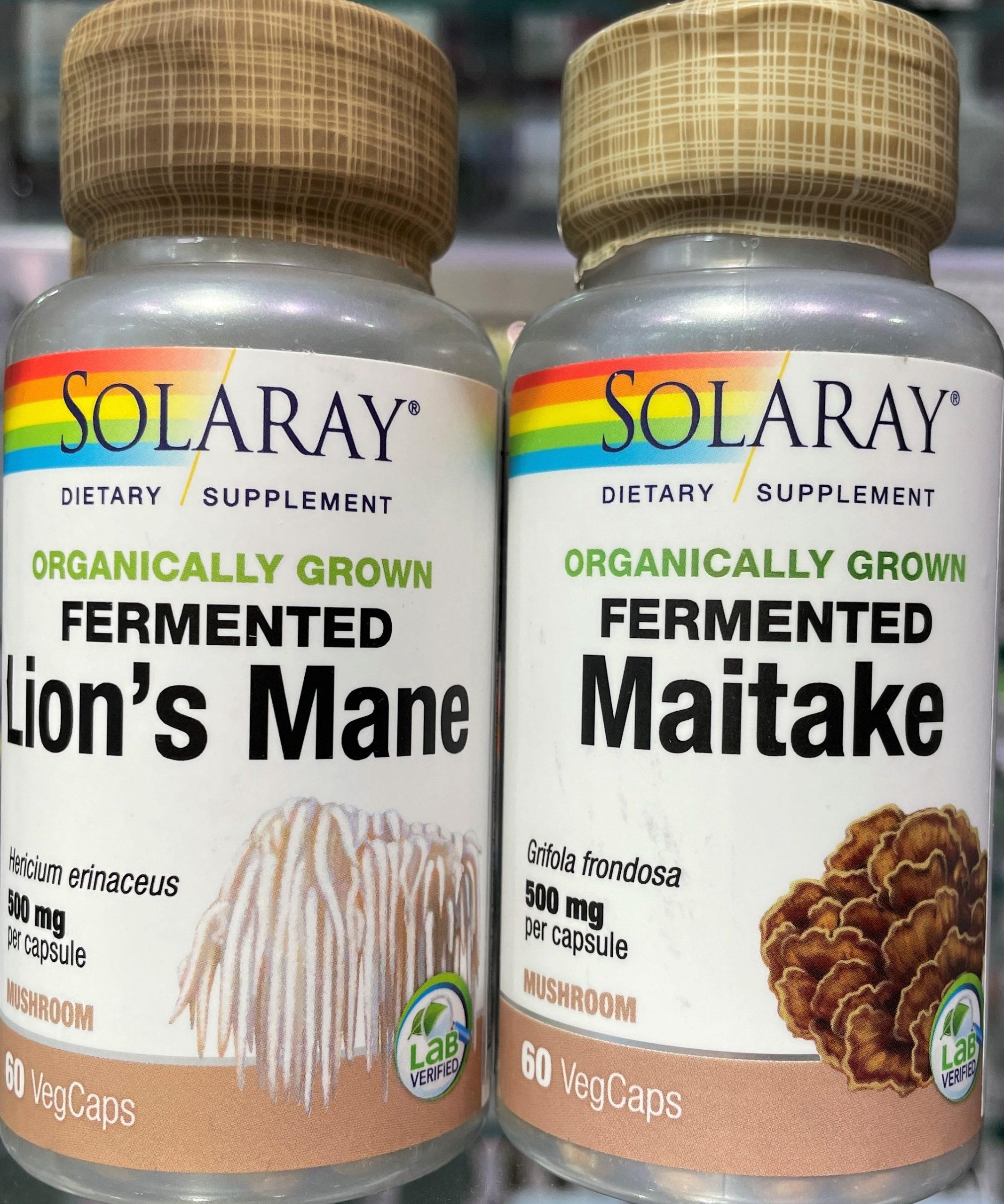 Fermented Lion's Mane de Solaray apoya a la función cognitiva gracias a su acción neuroprotectora