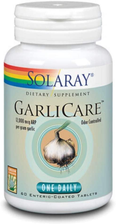 Comprar Solaray GarliCare 400 mg Gran Farmacia Andorra Online (ajo desodorizado) aporta una cantidad elevada de alicina, sin el desagradable olor asociado normalmente al ajo Este producto puede ayudar a reducir la presión sanguínea y proporcionar apoyo cardiovascular general.