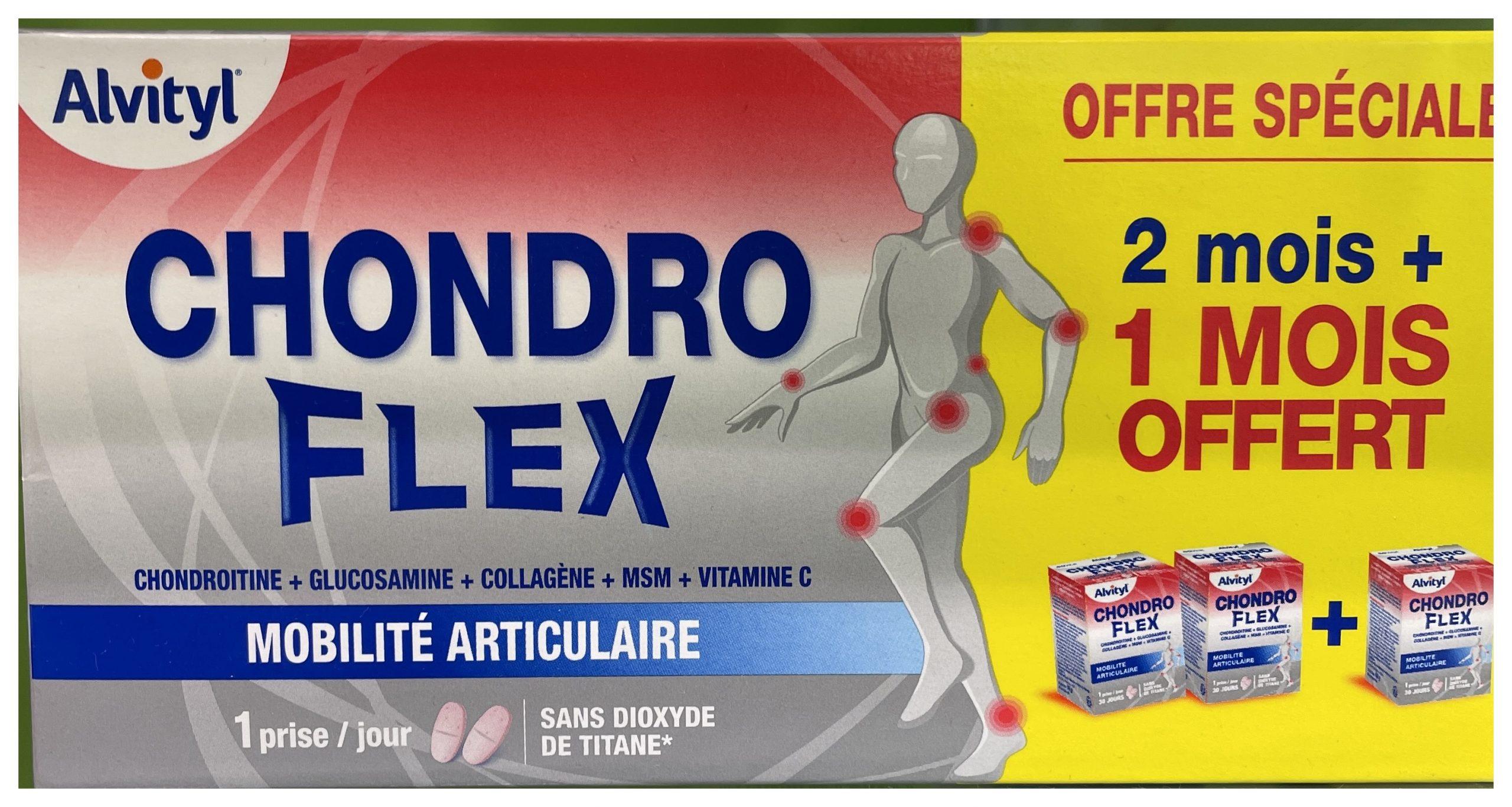 Urgo GOVital - Chondro Flex condroitina glucosamina colágeno MSM Vit C Chondroflex es el seguro de tener todos los días, en 1 sola toma de 2 comprimidos