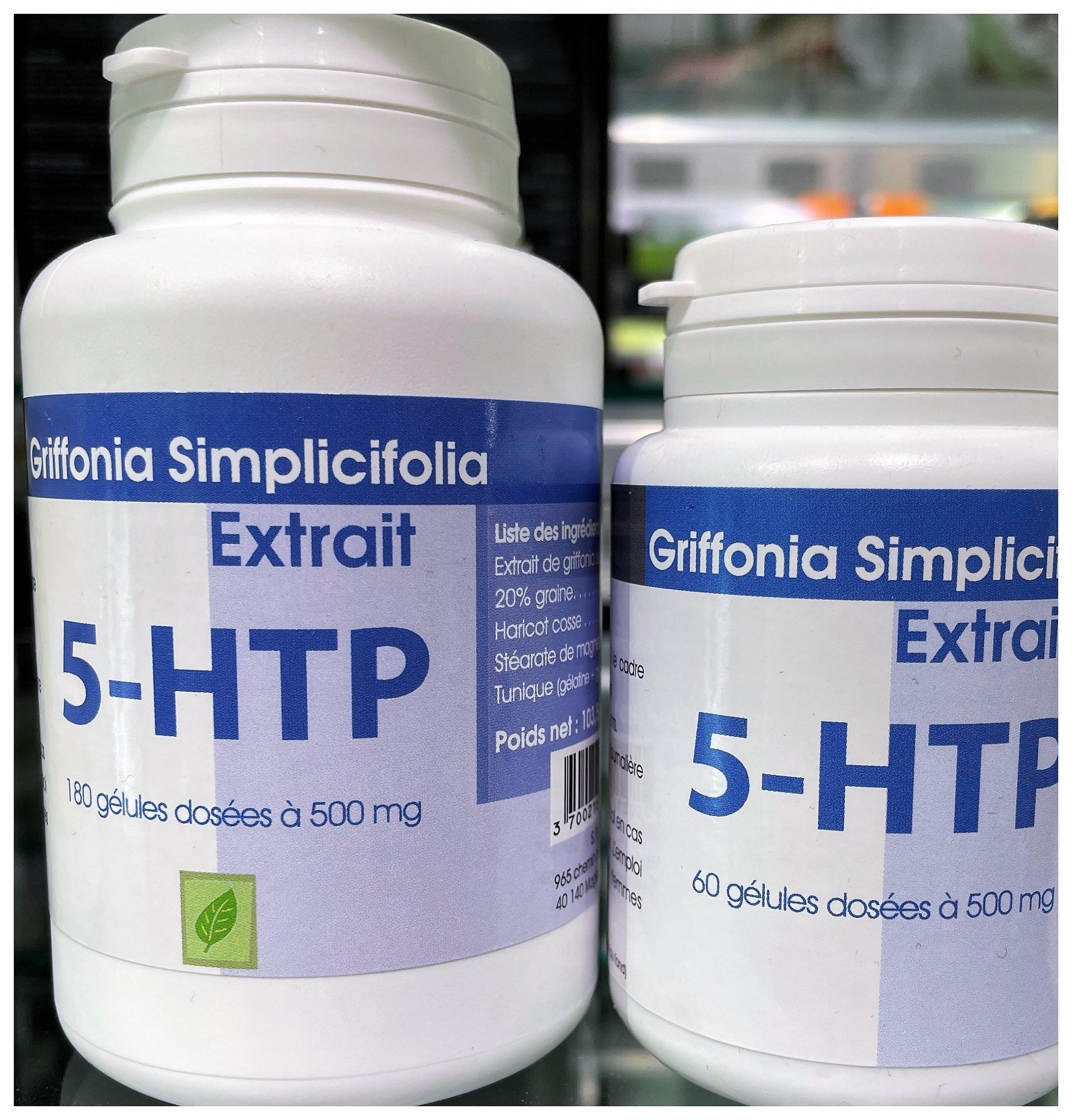 5HTP Triptofano, 300mg por día 5 HTP, Extracto Puro Semilla de Griffonia Simplicifolia, Aminoácido Mejora el Sueño, Reduce Estrés Ansiedad Insomnio, Alta Potencia