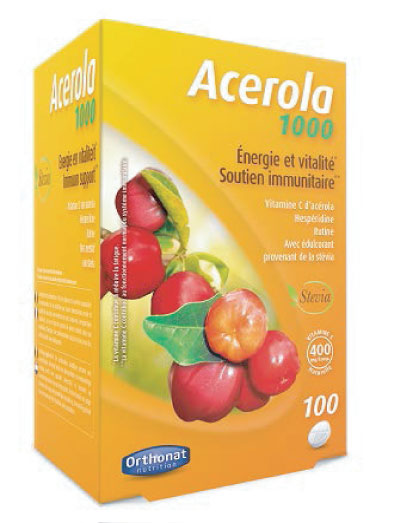 Acerola 1000 ORTHONAT Antiaging, Antioxidantes, Bienestar Femenino, Deportistas, Sistema Cardiovascular, Sistema Inmunológico