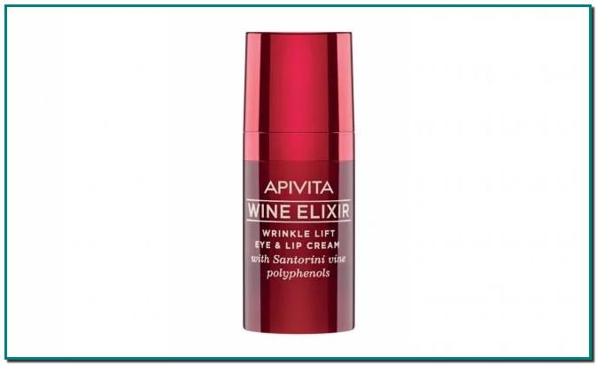 """APIVITA Wine Elixir Wrinkle Lift Eye & Lip Cream es un producto específico que crea un suave efecto """"lifting"""" alrededor de los ojos y los labios"""
