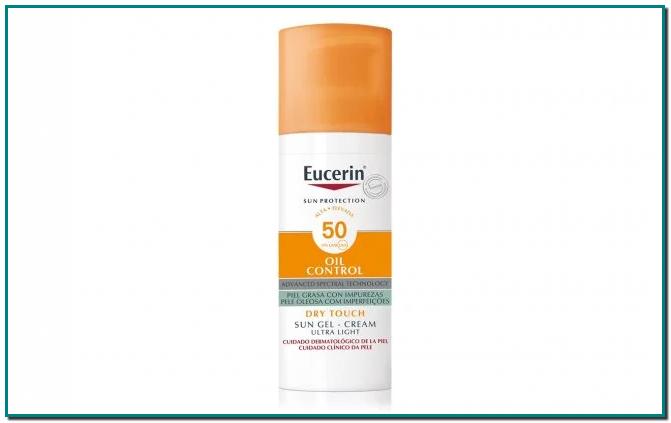 Eucerin Sun Gel Cream Oil Control SPF50+ es un protector solar facial innovador para pieles grasas y propensas al acné