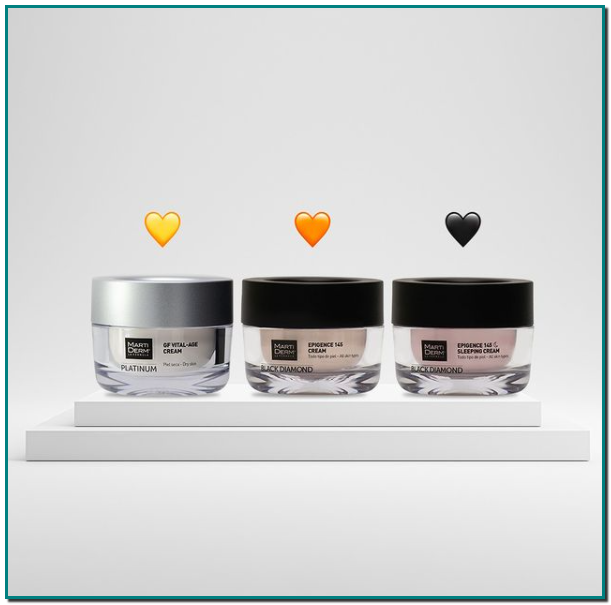 Martiderm ¿Eres de GF Vital-Age Cream, Epigence 145 Cream o Epigence 145 Sleeping Cream? 🤔 Si ya sabes cuál es tu crema, ve a Gran farmacia Andorra