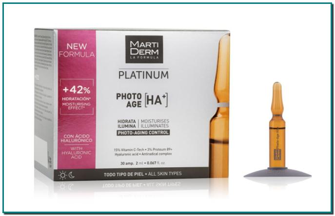 MartiDerm Photo Age HA+. Hidrata, ilumina y suaviza la apariencia de las arrugas #MartiDerm #SmartAging #Belleza #Piel #Skincare #CuidadoFacial #CuidadoPiel #AmpollasMartiDerm #Platinum #PhotoAgeHA+