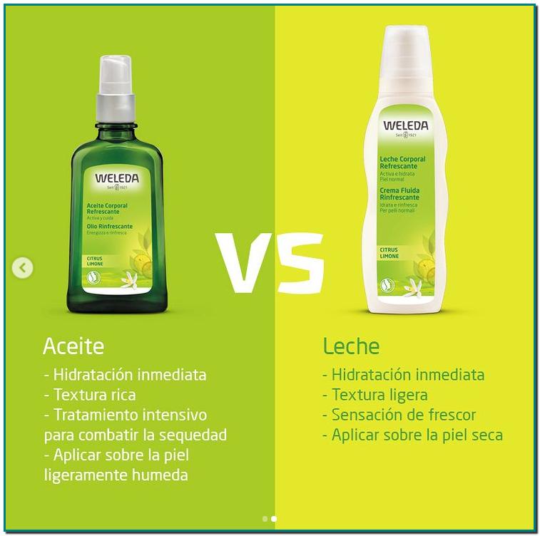 Weleda ¿Conoces la diferencia entre los aceites y leches corporales? Diferentes texturas, sensaciones, modos de aplicarlo