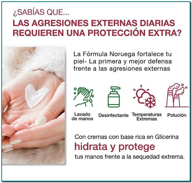 Cremas de Manos Neutrogena®Fórmula Noruega mantienen la hidratación y protegen la barrera natural de la piel. 🤲❤️
