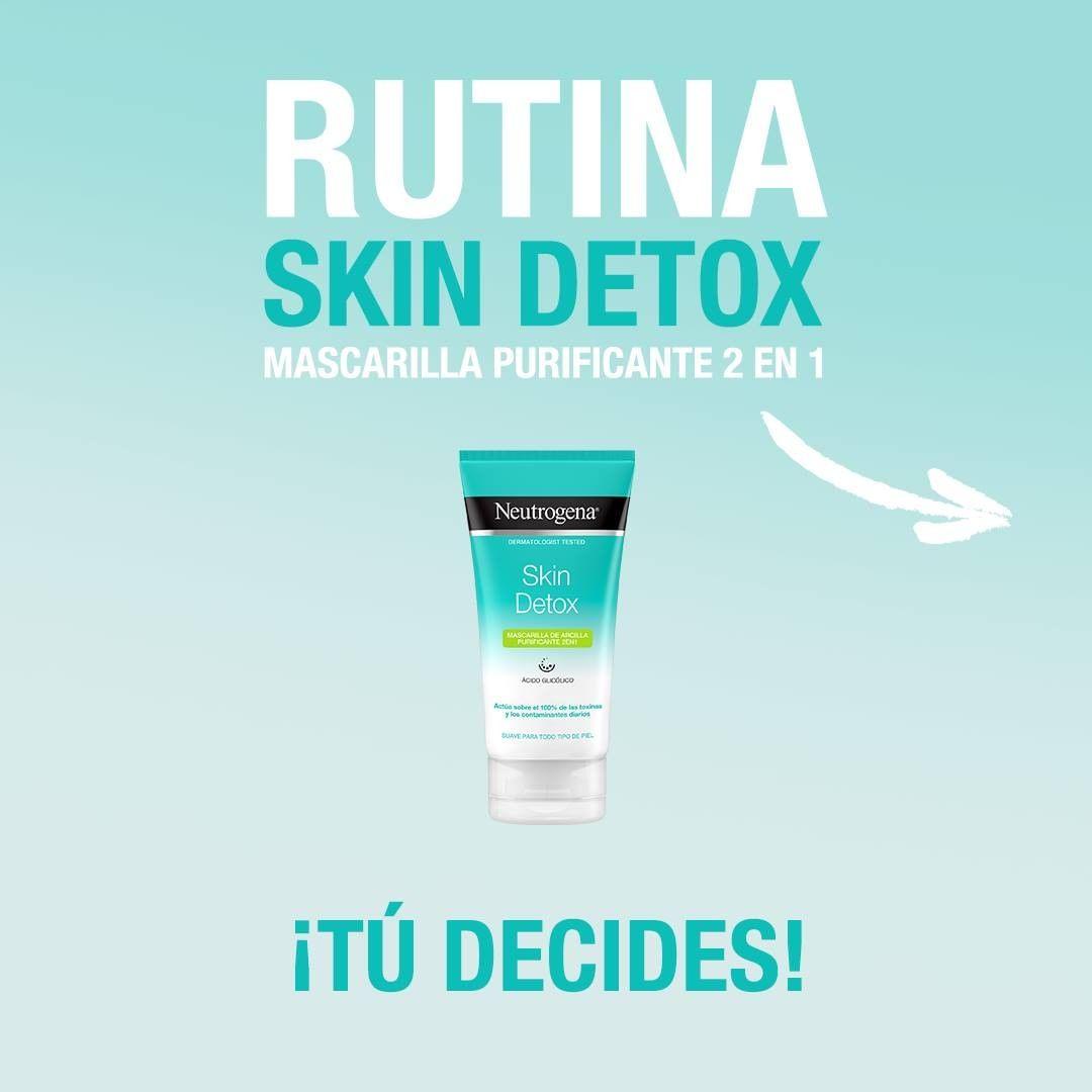 Neutrogena Detox Mascarilla Purificante 2 en 1 y descubre todos los beneficios de un limpiador y una mascarilla en un solo producto