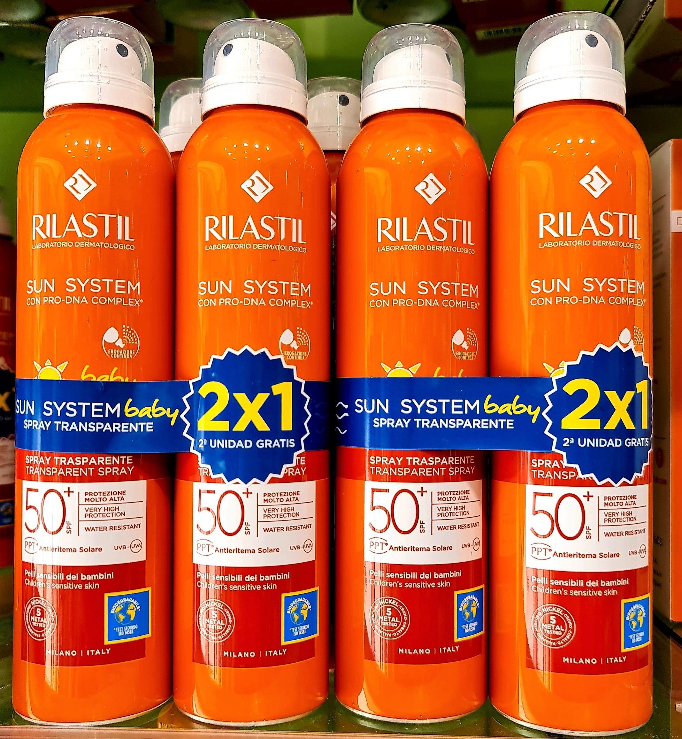 RILASTIL Sunlaude Spray Transparente SPF50+ 75 ml Muy alta protección solar UVA y UVB para piel mojada o seca de textura refrescante y tacto ligero.
