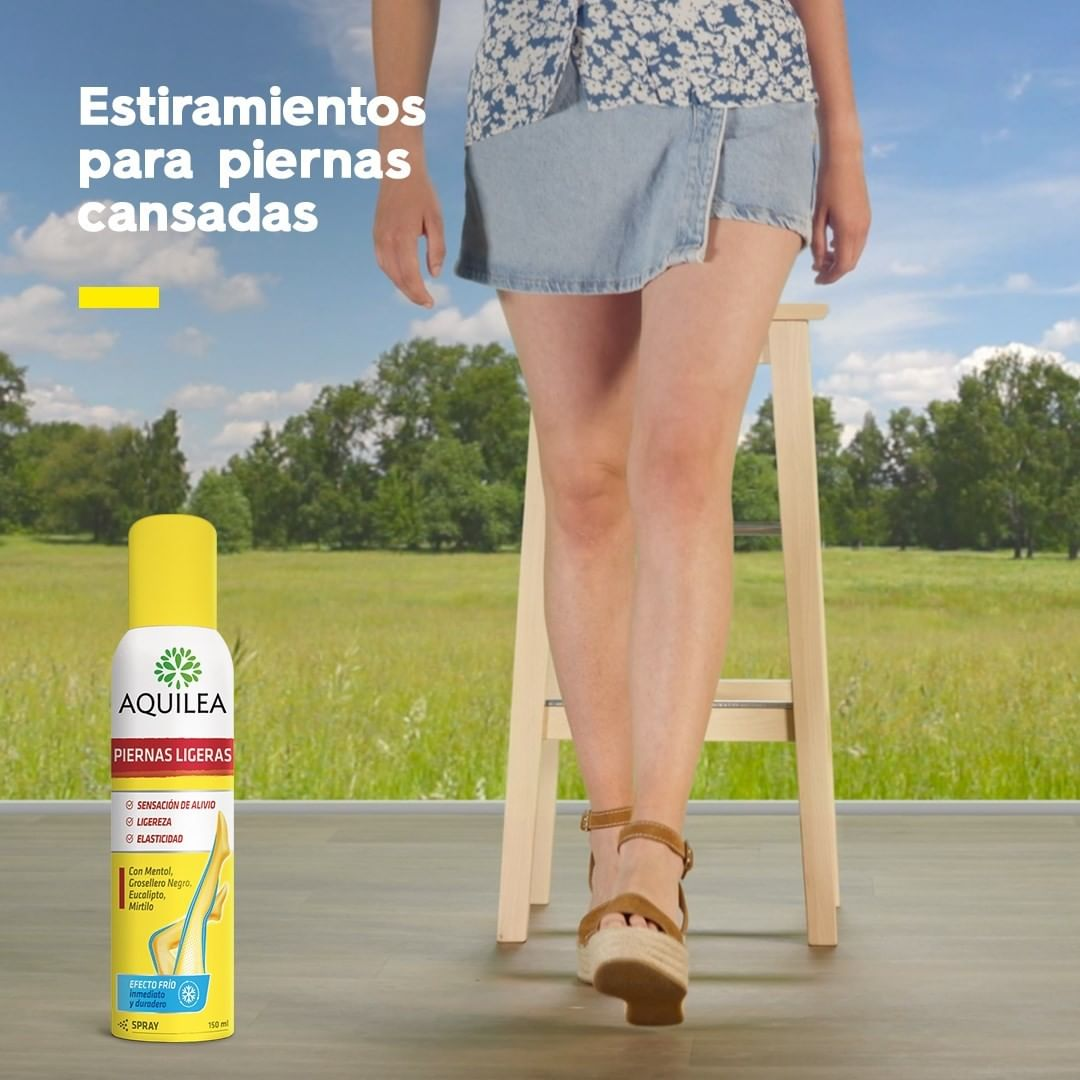 NUEVO Aquilea Piernas Ligeras Spray 🦵🏻 Proporciona un efecto frío inmediato y duradero que refresca, revitaliza y aporta ligereza y elasticidad a las piernas, gracias a la combinación de plantas como el Eucalipto y la Menta