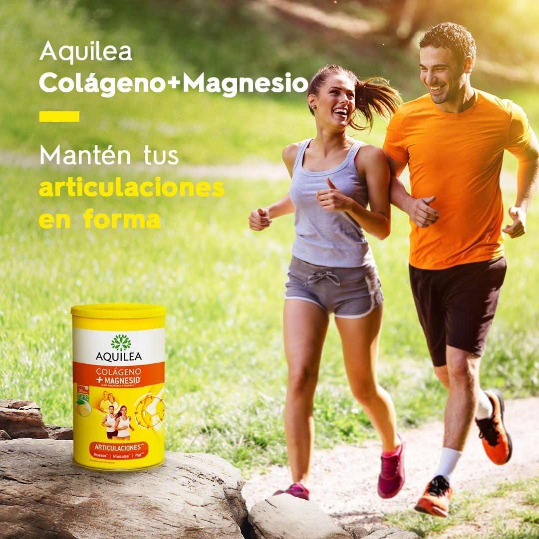 Con la fórmula de Aquilea Colágeno + Magnesio contribuirás al bienestar de tus articulaciones y también mantendrás tus músculos en forma