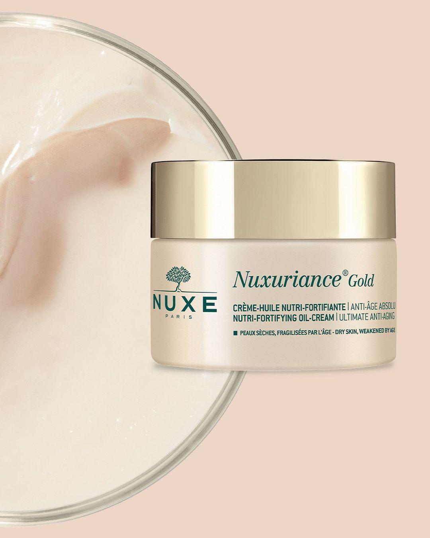 NUXE Nuxuriance Gold ✨ actúa sobre todos los signos visibles del envejecimiento para las pieles maduras: nutrición insuficiente, pérdida de firmeza, falta de luminosidad.