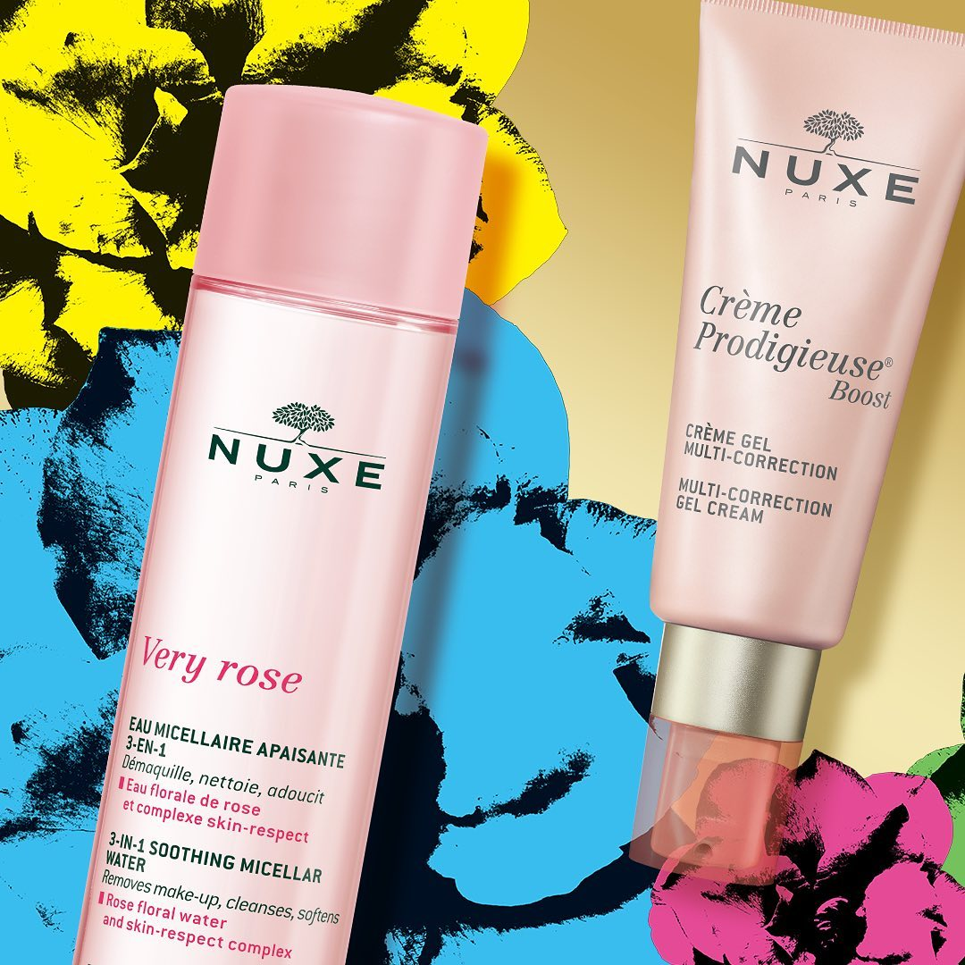 NUXE Very Rose + Crème Prodigieuse Boost = La combinación perfecta para preparar la piel para el año nuevo!💗 #Nuxemoments #NUXE