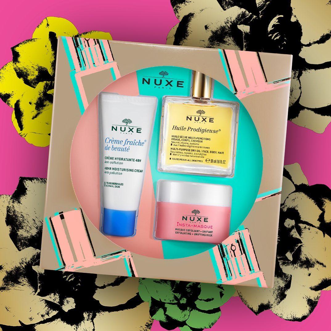 El Coffret Esenciales Nuxe te lo pone fácil, ya que contiene el trío perfecto de productos de culto NUXE para el cuidado de la piel: