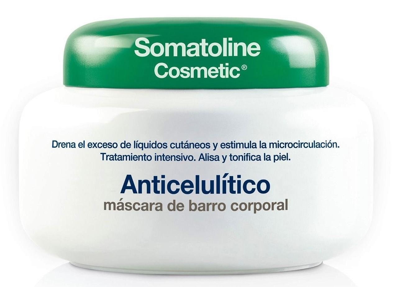 Somatoline CosmeticAnticelulítico Máscara de Barro: Fórmula de efecto fresco con el 95% de ingredientes de origen natural, específico para drenar y activar la microcirculación, alisa y desintoxica la piel.