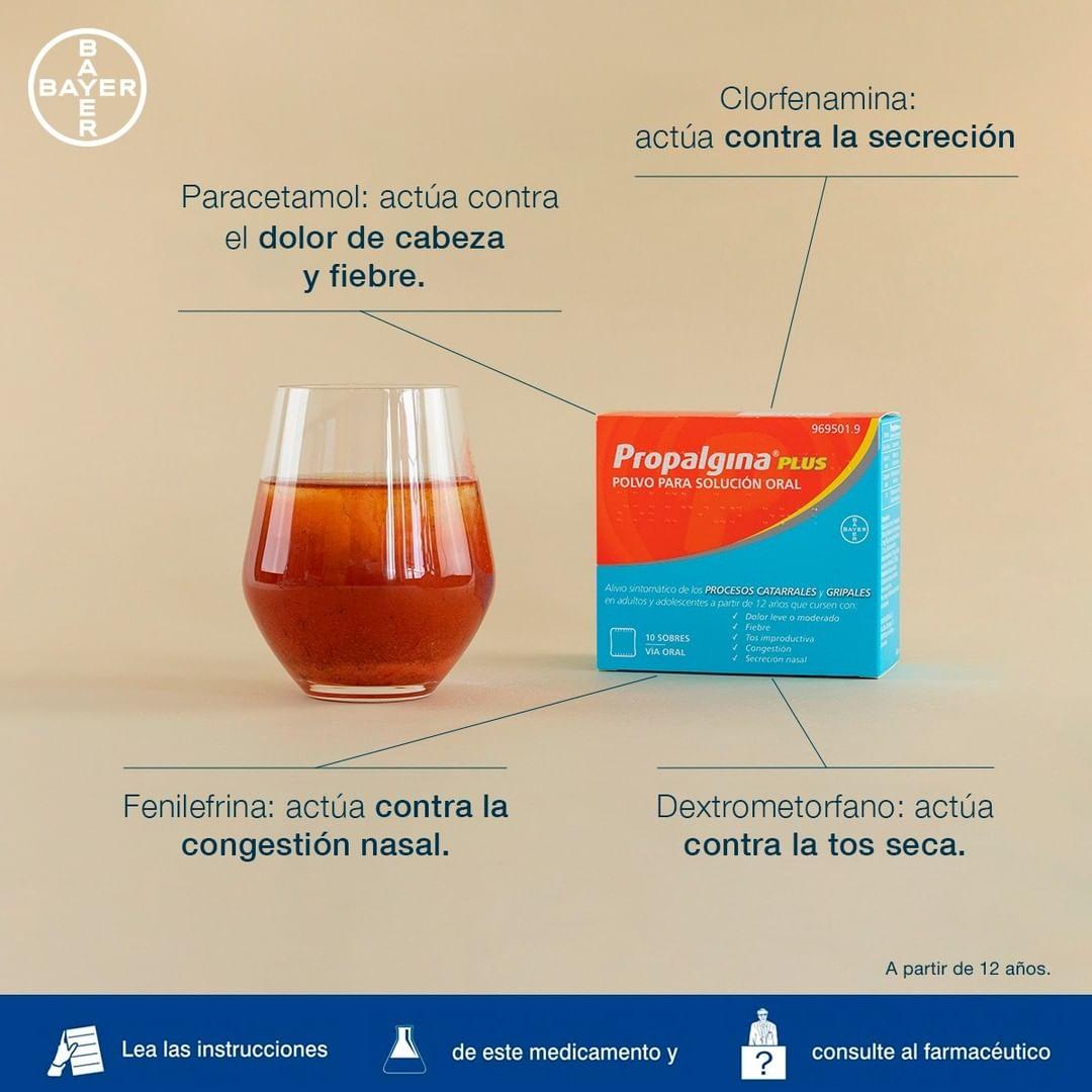 Propalgina® combate eficazmente estos 5 síntomas de la gripe y el resfriado: fiebre, congestión y secreción nasal, tos seca y dolor