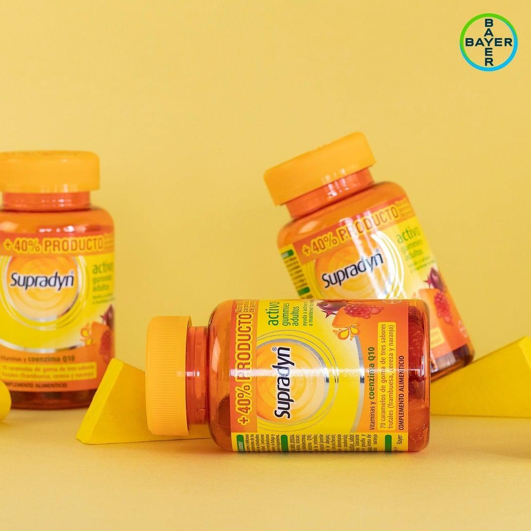 Supradyn® Activo Gummies para seguir con tu ritmo diario y llegar al final del día con energía para disfrutarlo