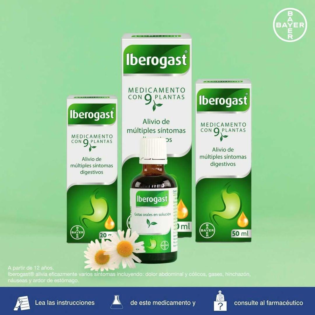 Iberogast® hinchazón, dolor estomacal y sensación de gases