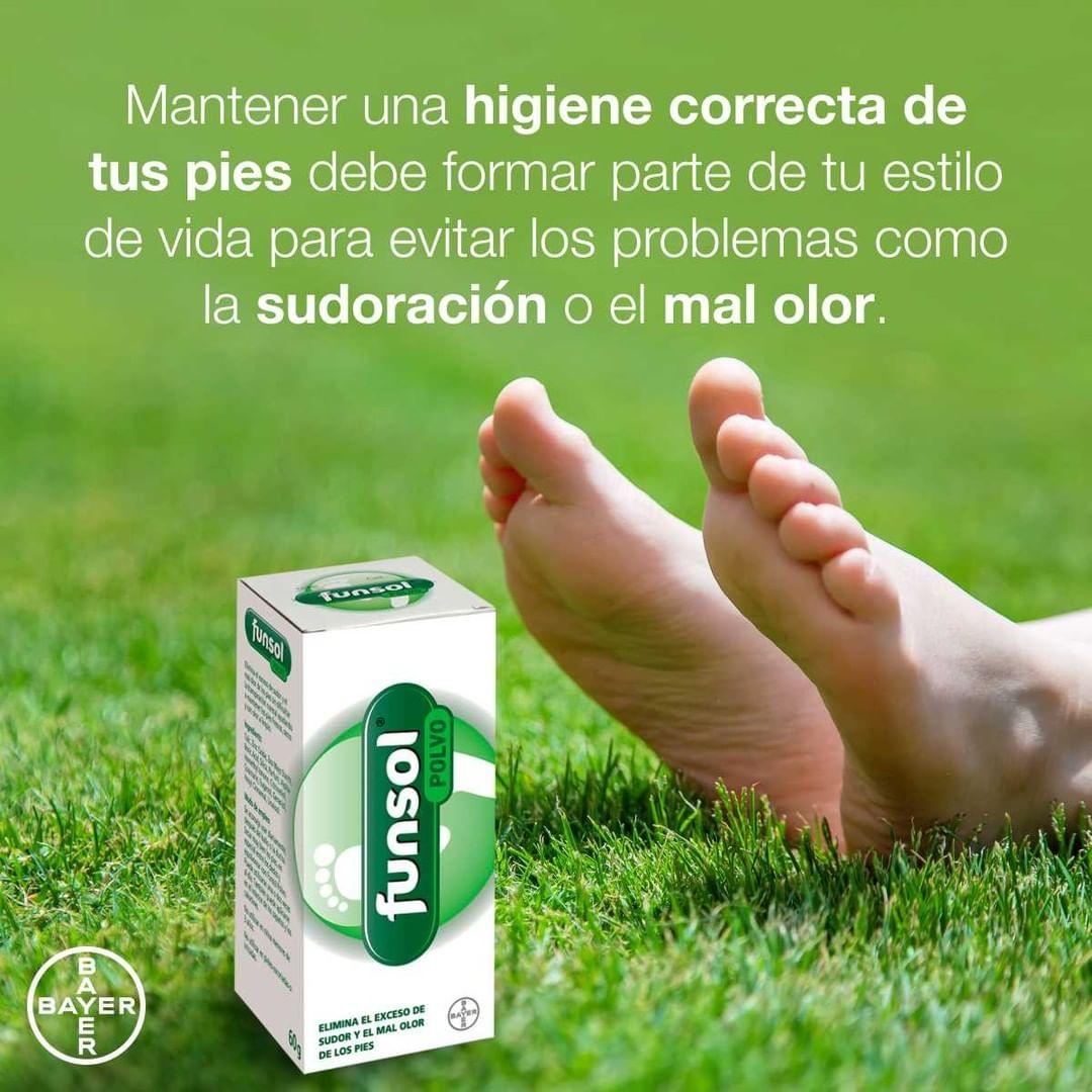 Funsol® Polvo puede ayudarte a mantener esta higiene eliminando el exceso de sudor y el mal olor de los pies sin dificultar la transpiración normal ayudando a mantener los pies frescos, secos y con olor a limpio.