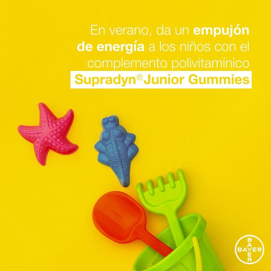 Con Supradyn®Junior Gummies podrás dar un empujón a la #energía de tus niños para que estén con las pilas cargadas durante todo el día